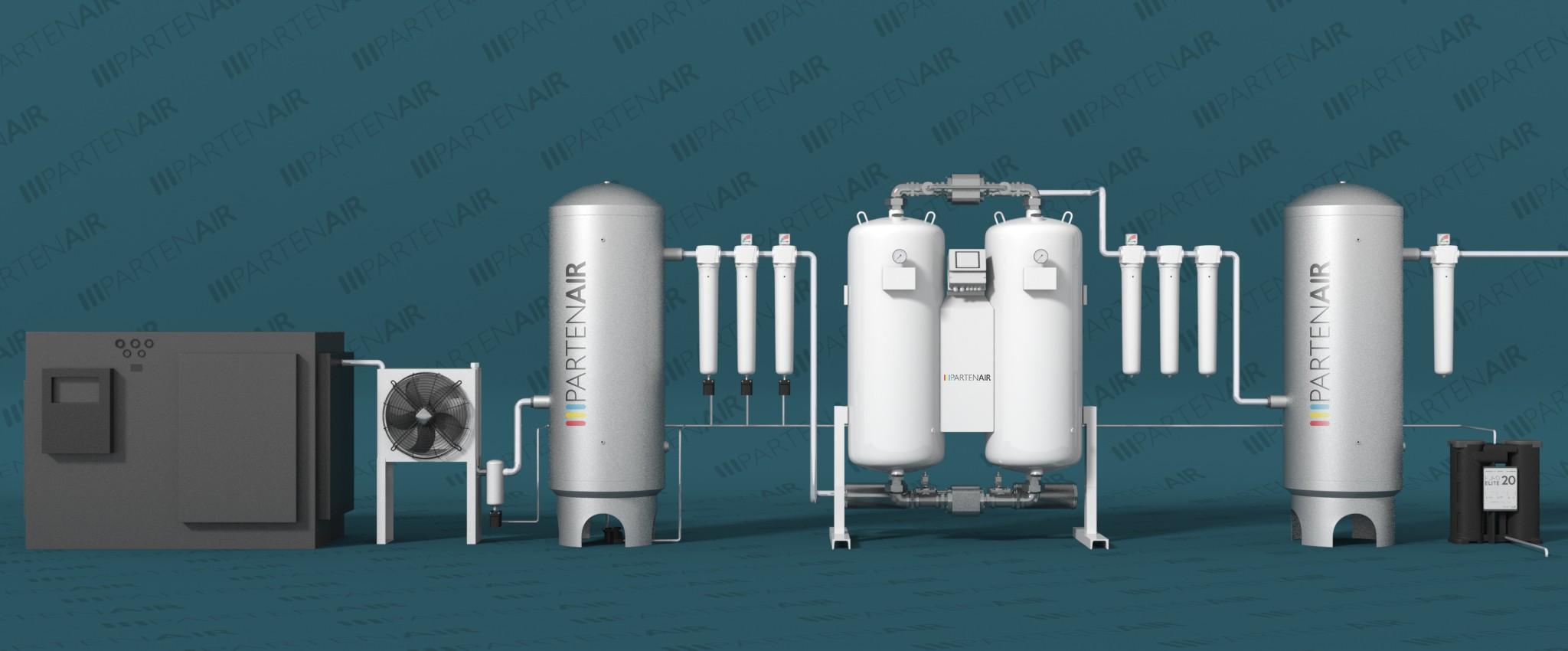 Circuit d'air respirable pour industrie ou hôpitaux