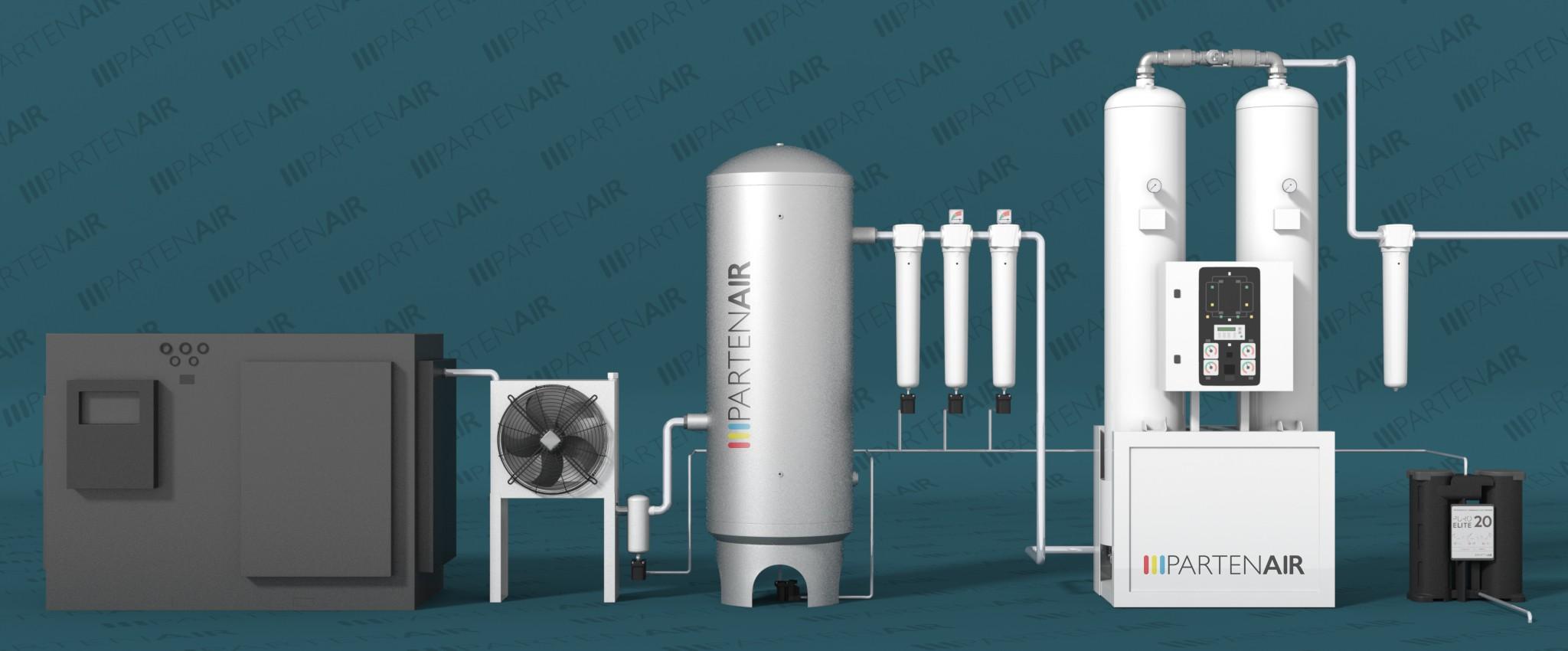 Installation type : sécheurs par adsorption avec chaleur